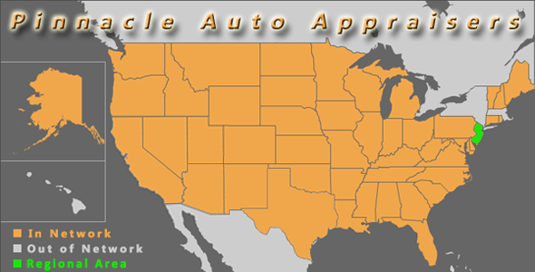 map new jersey pinnacle auto appraisal appraiser diminished value inspection